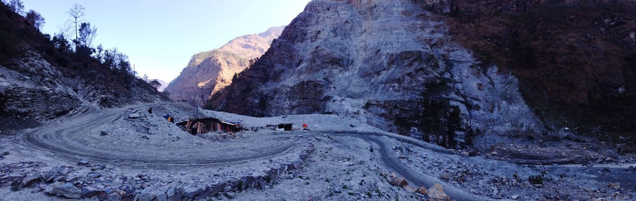 Landscape Landslide Blockage Early Morning Twists And Turns Road To Muktinath The Great Outdoors With Adobe The Great Outdoors - 2016 EyeEm Awards