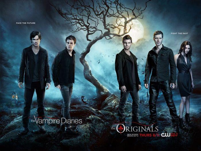 The Vampire Diaries Ian Somerhalder DamonSalvatore Paul Wesley Stefan Salvatore The Originals
