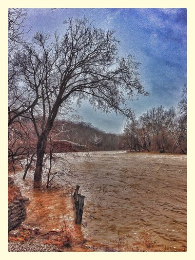 River Spring Flood IPhoneography