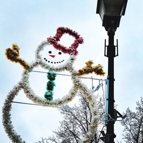 Christmas Decoration Sky Human Representation Low Angle View No People Day Outdoors Tree