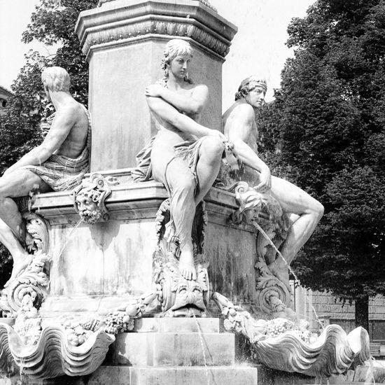 Location: Postplatz Canon AE-1 P | APX 100 -> 200 | D-76 AgfaPhoto APX 100 (new) Black And White Blackandwhite Canon AE-1 Program  EyeEm Best Shots - Black + White Kodak D-76 Monochrome Sculpture Statue