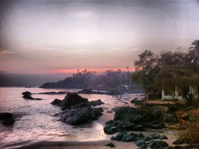 Beach Beauty In Nature Goa Misty Evening Nature Outdoors Patnem Scenics Sea Tranquil Scene Tranquility Water Pastel Power