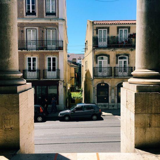 Lisbon Streets Portugal Houses Taking Photos