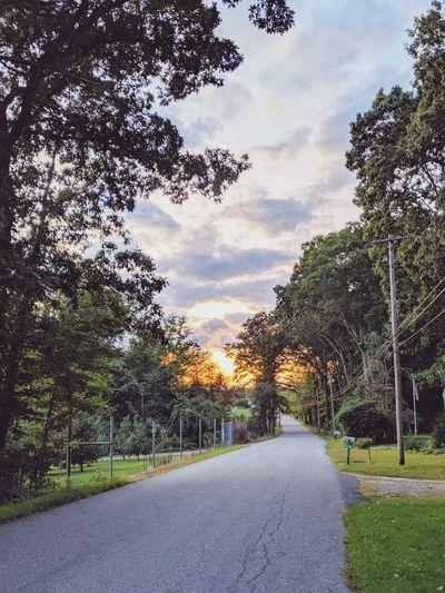 country road at