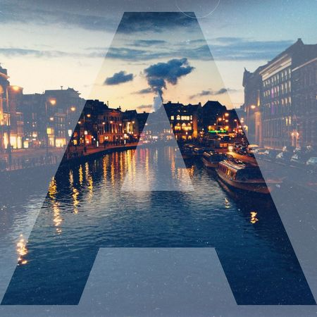 Typography Amsterdam Canal Afterlight