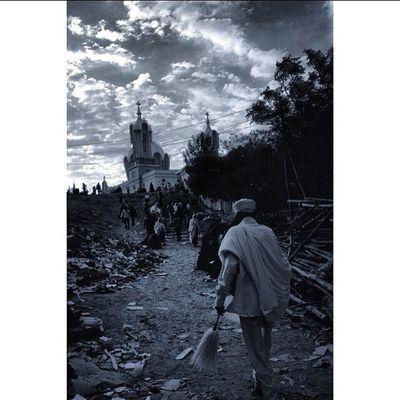 Picoftheday Adama Nazereth Gabriel Church SemoneHemamat Bnw Ethiopia Ethiopian EthiopianOrthodox EthiopianOrthodoxTewahedoChurch Africa Sunrise