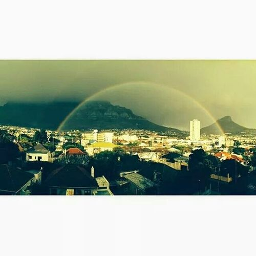 Capetown South Africa Photography Rainbow Sky Lionshead Panoramic