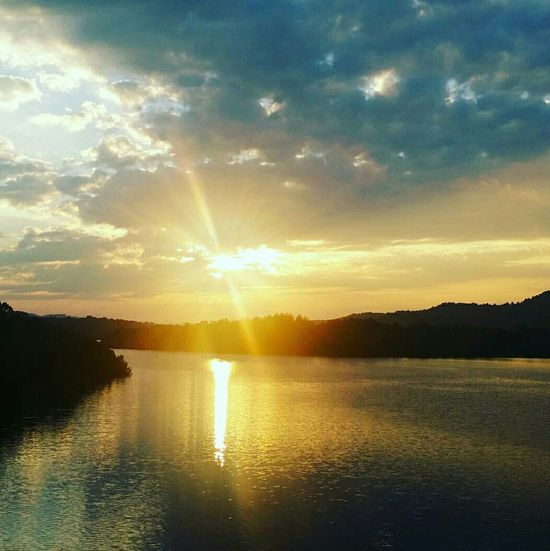 Summersville Lake West Virginia Photography Peace And Quiet Tranquil Scene Outdoors Beauty In Nature Sunset Sky Sunlight Sunbeam Beauty No People Peace Water