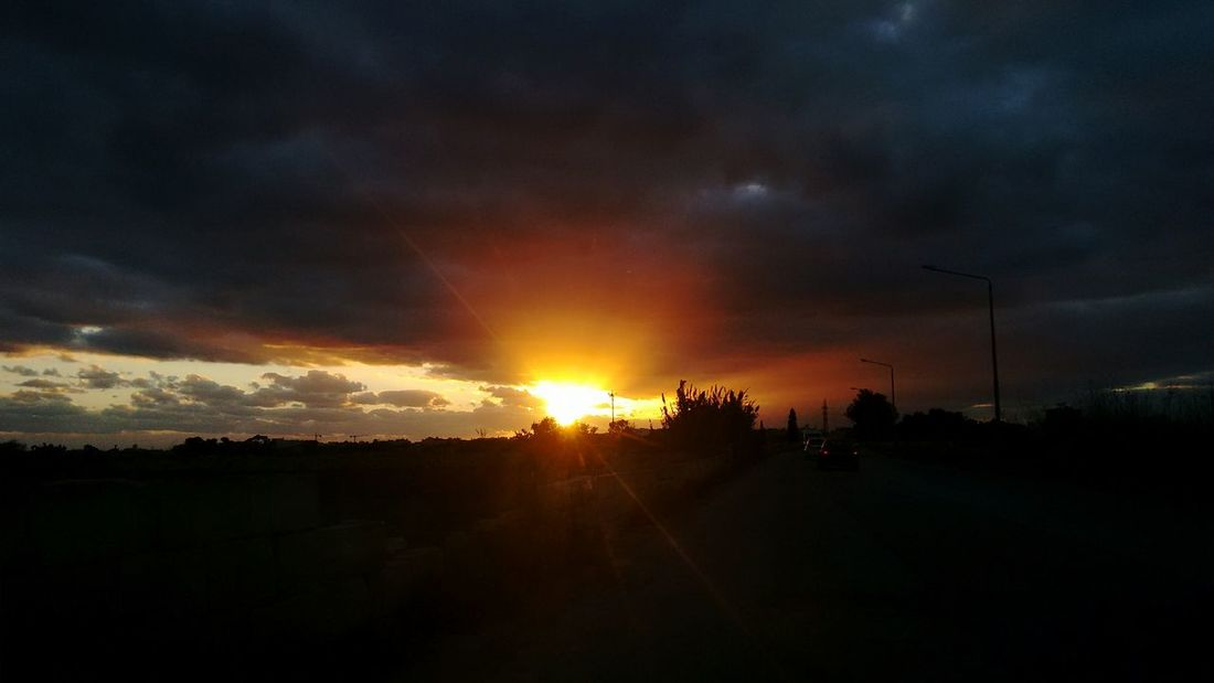 Dramatic Sky Sunset Landscape Beauty In Nature Outdoors Scenics Sky No People