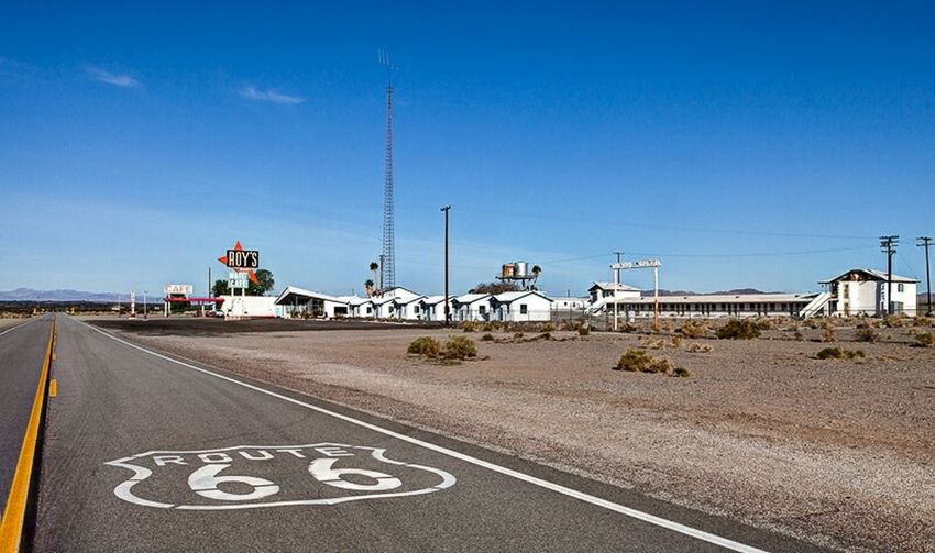 Route 66 at Roy's Motel And Cafe in Amboy, California .