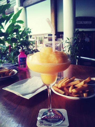 Chips Ketchup A Peach Daiquiri Light Lunch