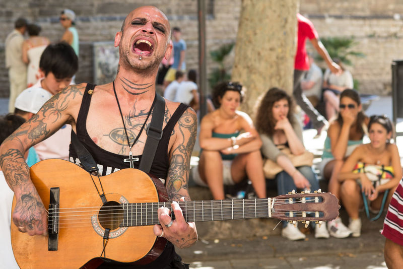 Barcelona Day Fun Guitar Outdoors Singing My Heart Out SPAIN Street Music Streetphotography