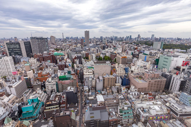 View over Kabuki-Cho from Gracery Hotel in Daytime April 2017 Golden Gai Robot Restaurant Shinjuku Tokyo Tokyo Sky Tree Tokyo Tower Architecture Citadines City Cityscape Crowded Gracery Hotel Kabukicho Skyscraper Tall View From Above