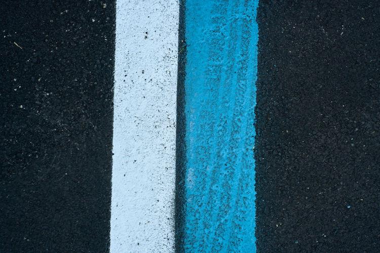 Asphalt Backgrounds Blue Close-up Day LINE No People Outdoors Road Textured  Transportation