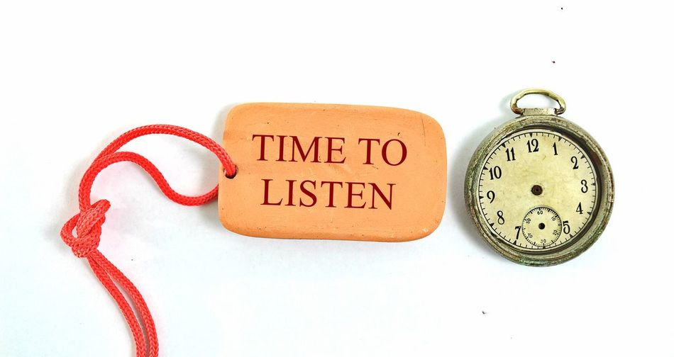 time to listen Rope Antique Clay Clock Clock Face Close-up Cut Out Minute Hand No People Old-fashioned Retro Styled Time Time To Listen Time To Listen.... Vintage White Background