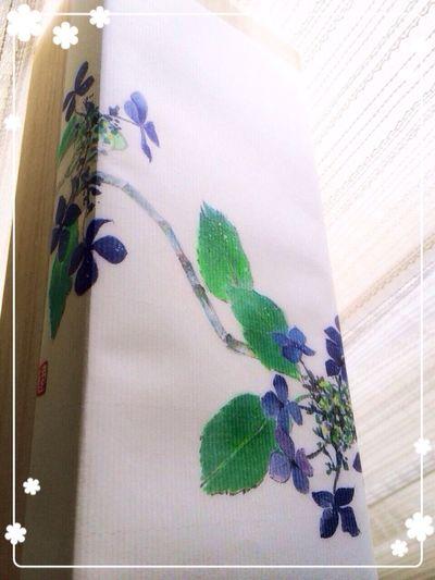 文明堂 カステラ 極(きわみ) 桐箱に 紫陽花 柄の 和紙 がかかっていて素敵。そして、美味しい!
