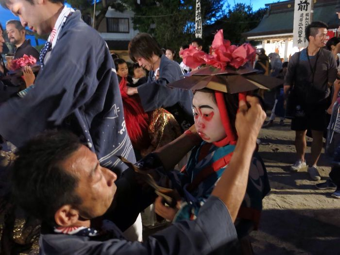 Light And Reflection Crowd Kabuki Matsuri Japan 隈取り 三谷 三谷祭