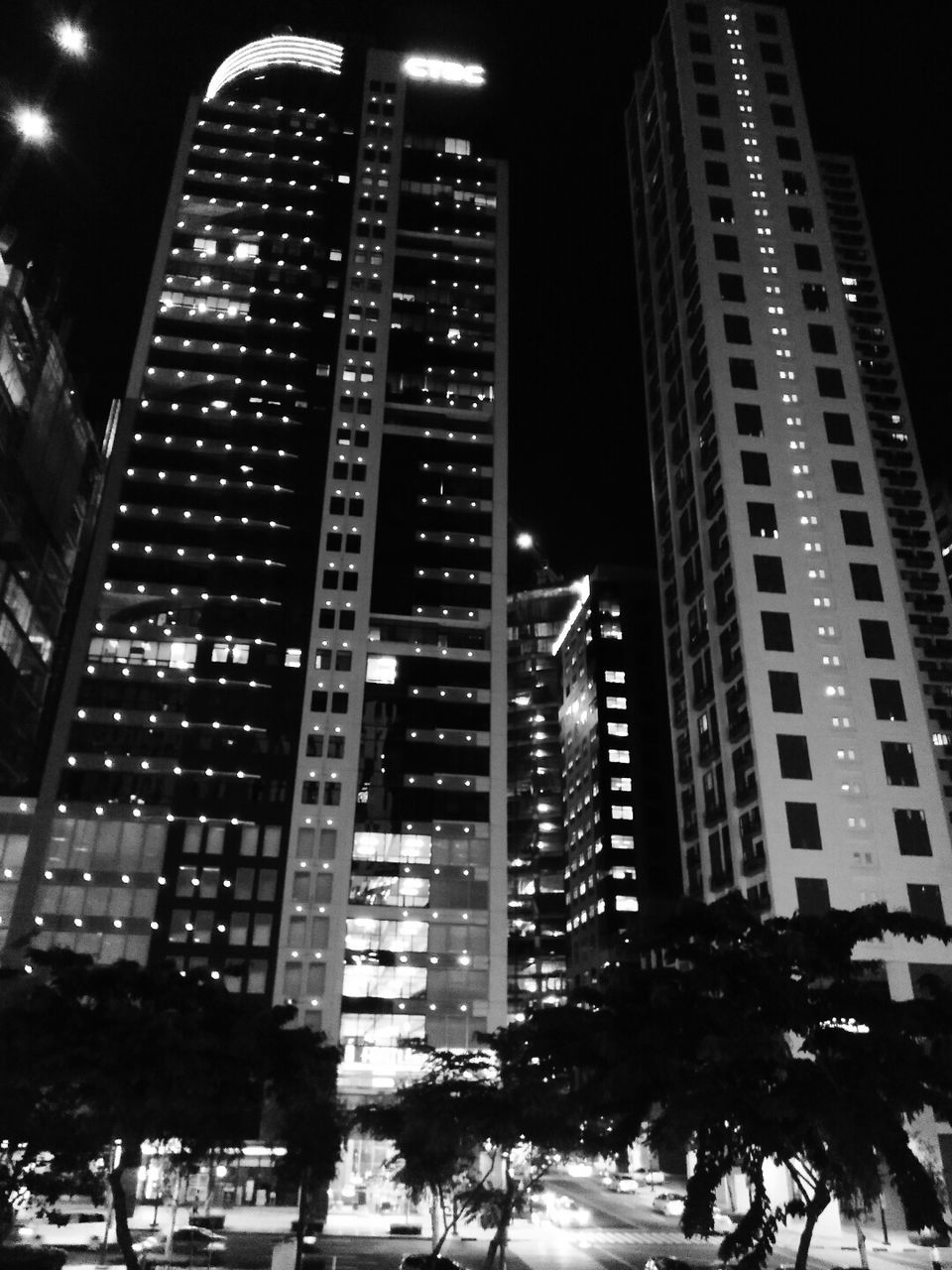 night, illuminated, city, skyscraper, modern, architecture, building exterior, built structure, cityscape, no people, outdoors