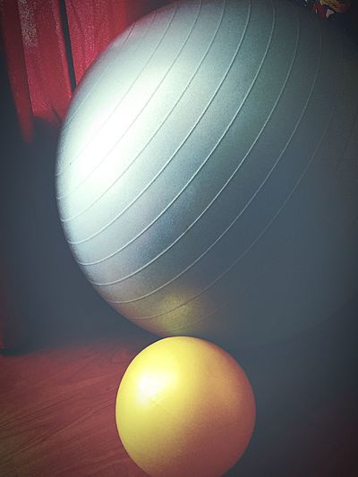 Indoors  Close-up Illuminated Group Of Objects Vibrant Color Multi Colored No People Lit Ball Blue Yellow