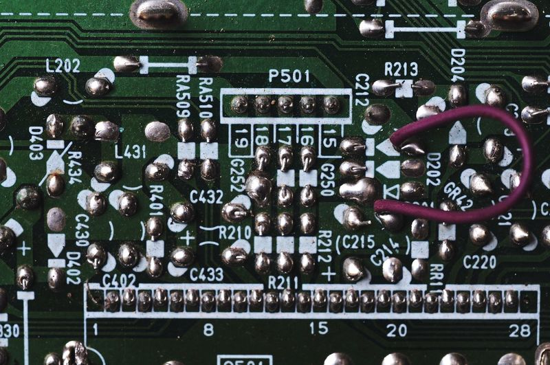 Illustration Electronic PCB Electrical Equipment Electronics Industry Resistors Part Of Solder Full Frame Close-up Information Board Number Mother Board Signboard Circuit Board Computer Chip