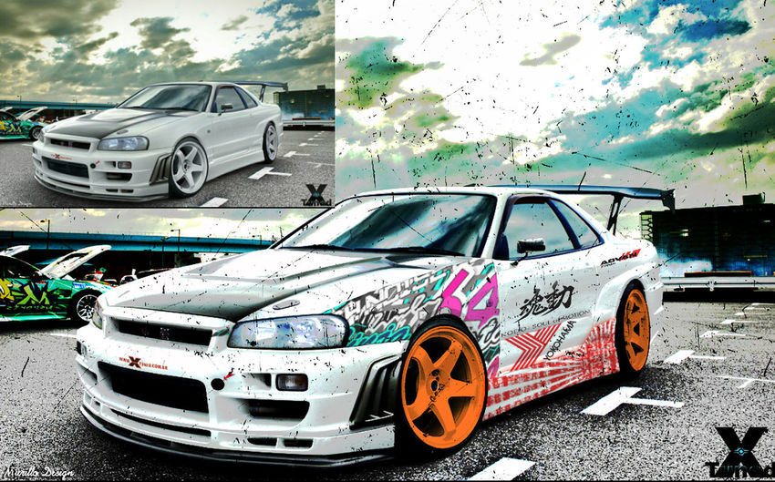 Nissan Skyline Photoshop :)) AdvanRacing JDM Cars