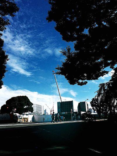 Sendagaya Tokyo Japan Clouds And Sky National Stadium 君の名は