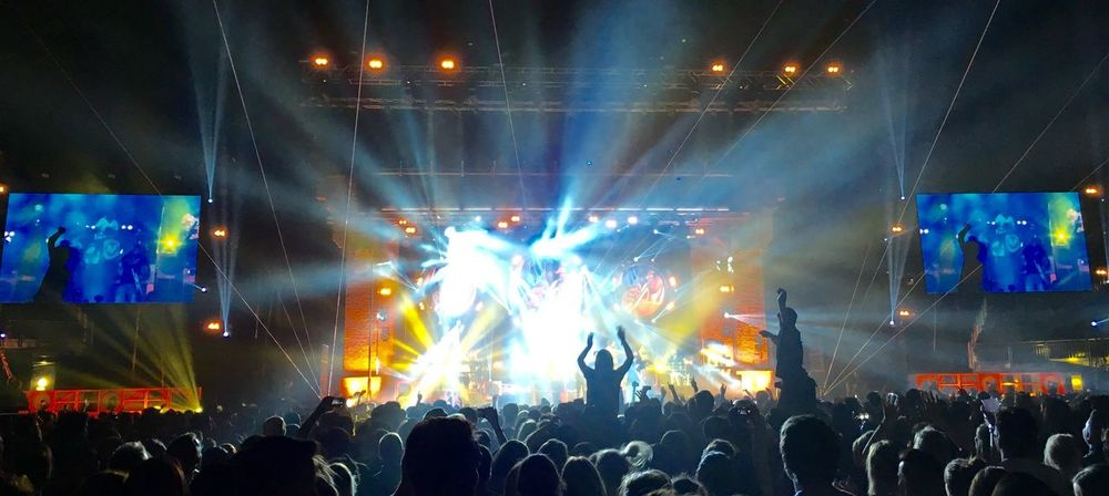 Crowd Large Group Of People Arts Culture And Entertainment Music Audience Nightlife Illuminated Fun Stage - Performance Space Night Enjoyment Popular Music Concert Real People Music Festival Excitement Stage Light Concert Event Performance Women Rudimental