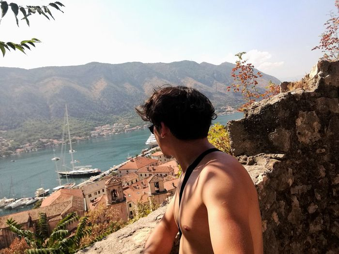 Me Mountain Montenegro Kotor Water Adults Only Adult Leisure Activity One Person People Day Nature Only Men Tree Men Vacations Real People Scenics Sky Outdoors Young Adult Beauty In Nature