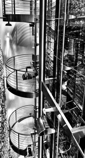 Elevator Shaft Staircase Architecture Blackandwhite