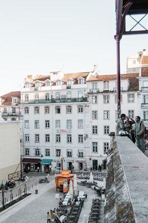Lisbon City Winter Cityscape Cold Temperature Sky Architecture Building Exterior Built Structure