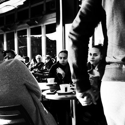 Noir Et Blanc Blackadnwhite High Contrast People Real People Street Photography Streetphotography Women