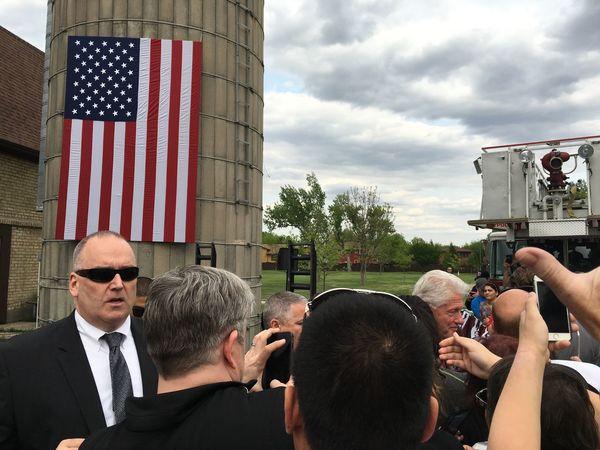 May 20, 2016 / Rheault Farm Bill Clinton Casual Clothing Fargo Leisure Activity Lifestyles North Dakota President Presidential Campaign 2016 Presidential Election 2016 Rheault Farm United States