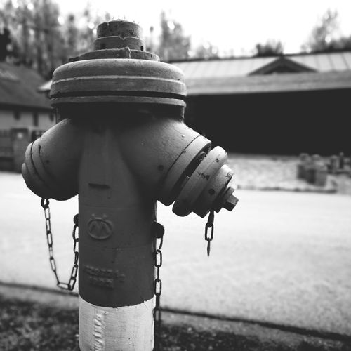 EyeEm Selects Outdoors Day No People Close-up Sky Fire Hydrant Plug Fire Fireman Equipment Hydrant Danger Prevention Guard Precaution Monochrome Monochrome Photography Blackandwhite Photography