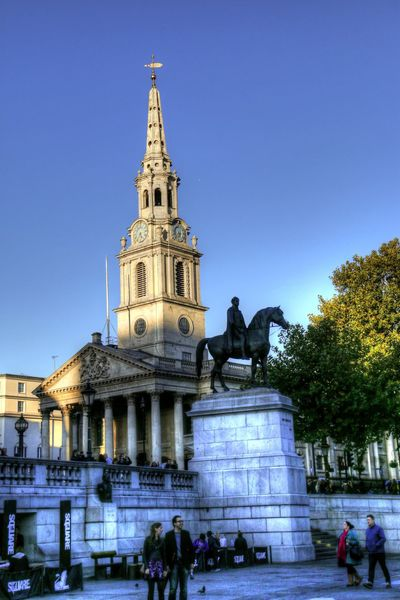 Building England Famous Place Holy Landmark London Tourist Attraction  St Martin-in-the-fields Trafalgar Square