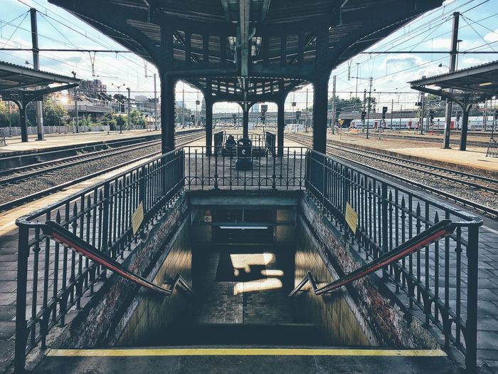 Staircase of railroad station