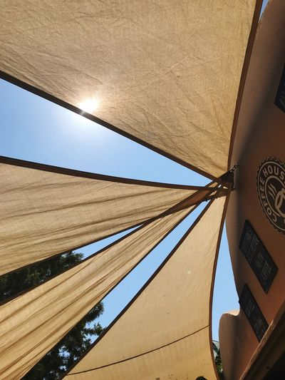Blinds EyeEm Selects Low Angle View Architecture Built Structure Sky Day No People Pattern Sunlight Outdoors Protection