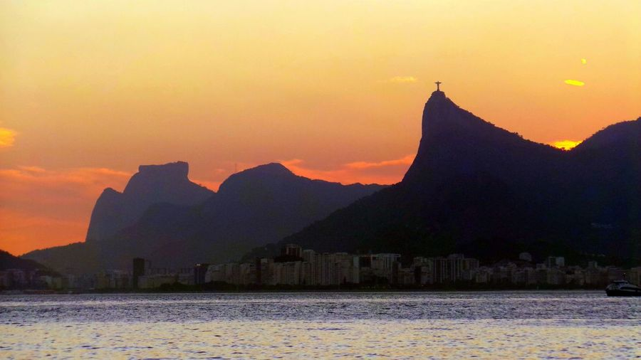 Rio's sunset, by Rui Britto Beauty In Nature Brazil Corcovado Hill Guanabara Bay Mountain Nature Rio De Janeiro Sunset Sky Sun Sunset Tourism Travel Destinations Two Brothers Hill