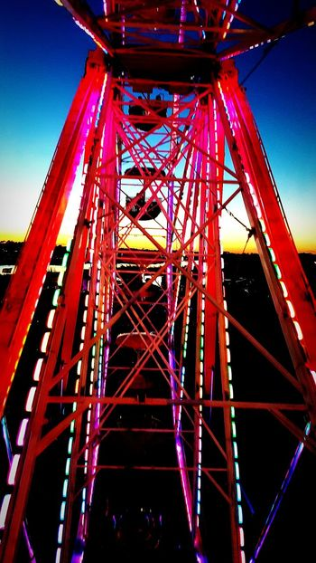 Ferriswheel Built Structure Architecture Sky Outdoors Night No People Illuminated Sunset Close-up Sommergefühle Done That.