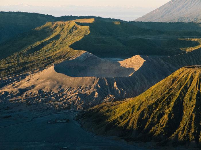 Aerial Shot Vulcano INDONESIA Bromo