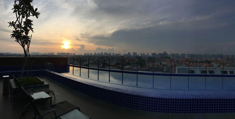 Panoramic view of Sunrise In Singapore