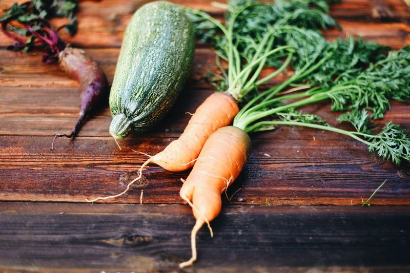 Close-up of vegetables on cutting board