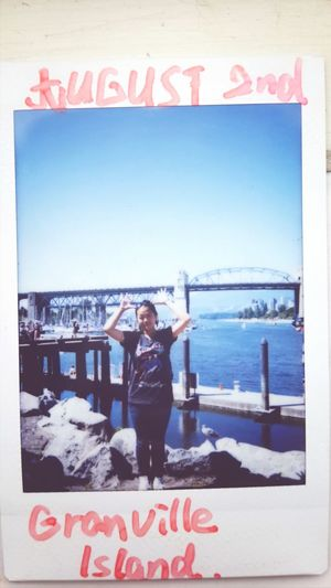 Granville Island , Vancouver , i was in a cool biiiig Market ,? Good Memory