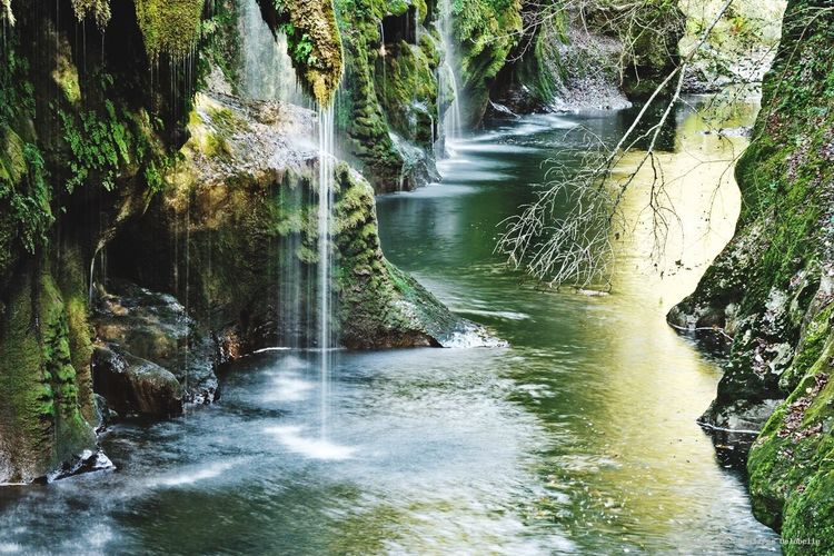 Waterfall Water Rock - Object Beauty In Nature Nature Scenics Motion River Tranquil Scene No People Outdoors Day Power In Nature Annecy Gorges Du Fier