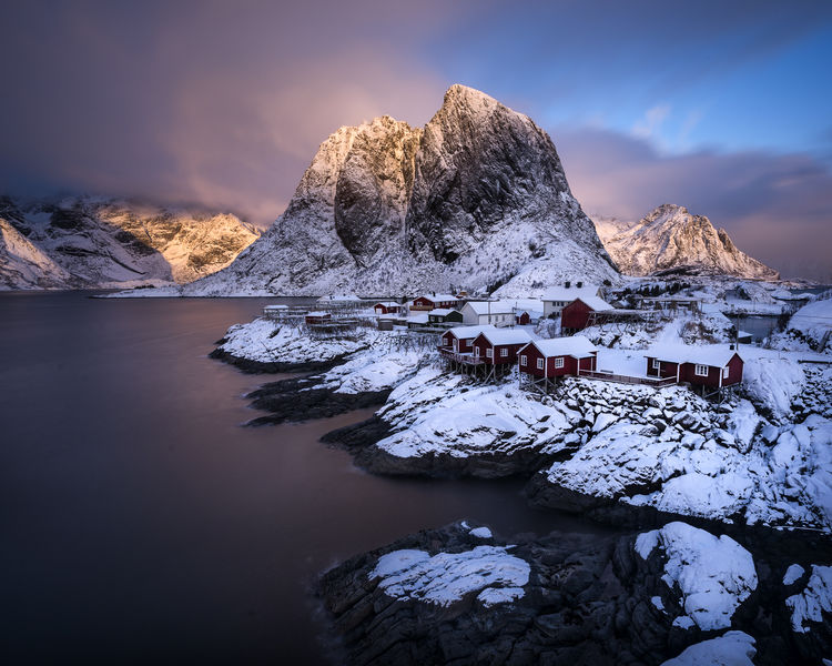 Arctic Beauty In Nature Cold Temperature Day Hamnøy Ice Iceberg Lake Landscape Lofoten Moskenesøya Mountain Nature No People Outdoors Scenics Sky Snow Sunset Tranquil Scene Tranquility Water Winter