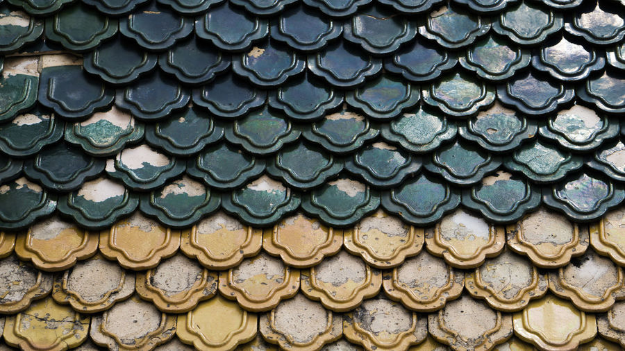 Full frame shot of tile roof
