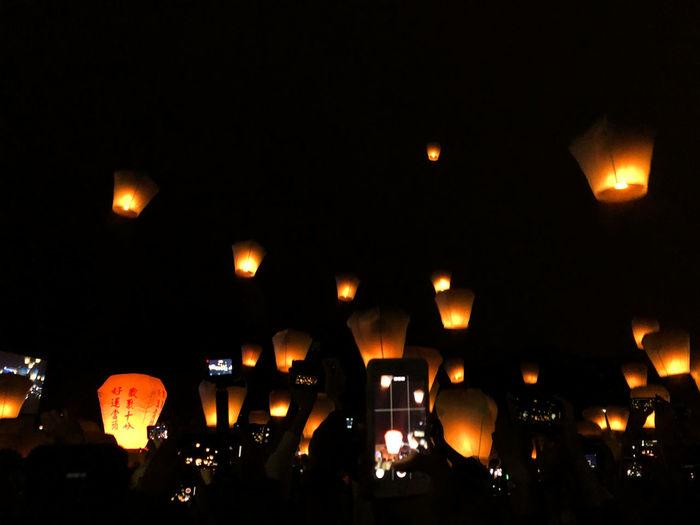 Lantern festival Lantern Lantern Festival Lanternfestival Chinese New Year Taiwan Shifen Pingxi Make A Wish Paper Lantern Festival Traditional Festival Glowing Illuminated Night