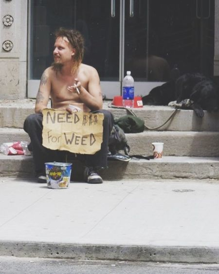 Enjoy The New Normal Funny Low Angle View Alone My Year My View First Eyeem Photo Homelessness  Canada Streetphotography Lifestyles Real People New Talents