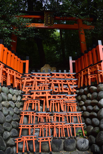 Architecture Arrangement Buddhist Gate Buddhist Symbolic Buddhist Temple Faith Faithful In A Row Japan Kyoto Temple Large Group Of Objects No People Orange Color Outdoors Red Gate Religion Religion And Beliefs Religion And Tradition Spiritual Spiritual Reflections