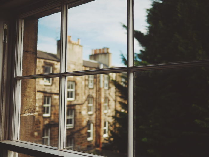 Window Reflection Architecture Built Structure Looking Through Window No People Day Building Exterior Tree City Outdoors Sky Close-up Cityscape Nature Politics And Government