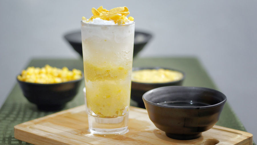 Mais con Yelo Dessert Desserts Food And Drink Ice Mais Mais Con Yelo Shaved Ice Corn Corn Flakes Cream Creamy Drink Drinking Glass Filipino Filipino Food Focus On Foreground Food Food And Drink Food Photography Glass No People Refreshment Yellow Yellow Color Yelo